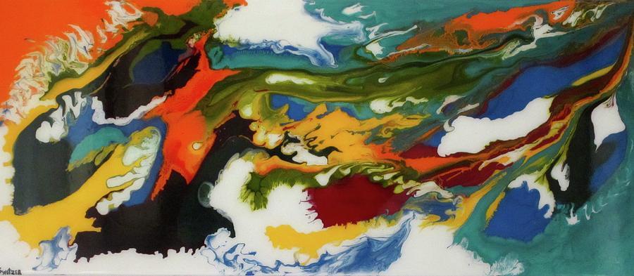 Original Painting - razzamatazz by Kim Switzer