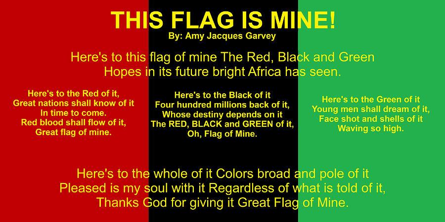 RBG FLAG PLEDGE By Amy Jacques Garvey by Adenike AmenRa