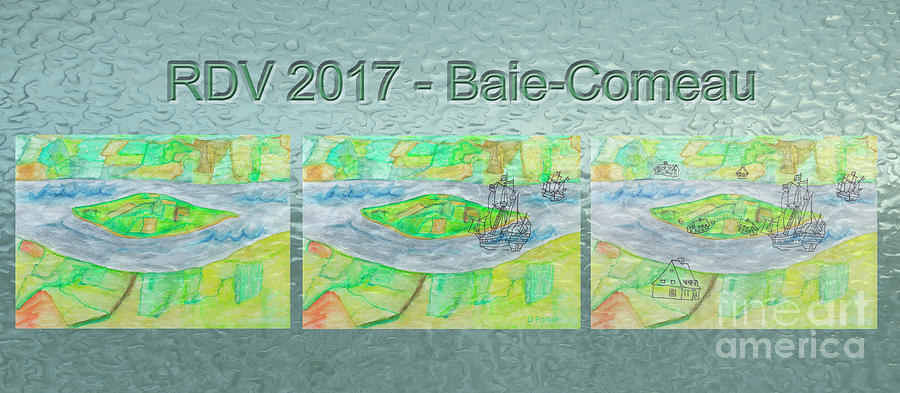 Island Mixed Media - Rdv 2017 Baie-comeau Mug Shot by Dominique Fortier