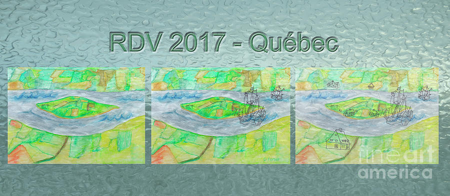 Island Painting - Rdv 2017 Quebec Mug Shot by Dominique Fortier