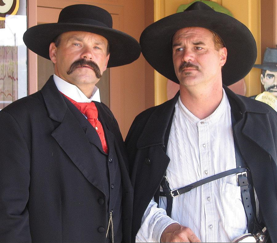 Re Enactors Playing Wyatt Earp And Doc Holliday Tombstone Arizona