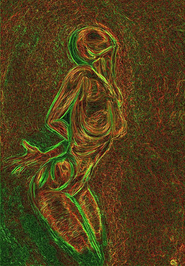 Woman Digital Art - Reach by Aiden Galvin