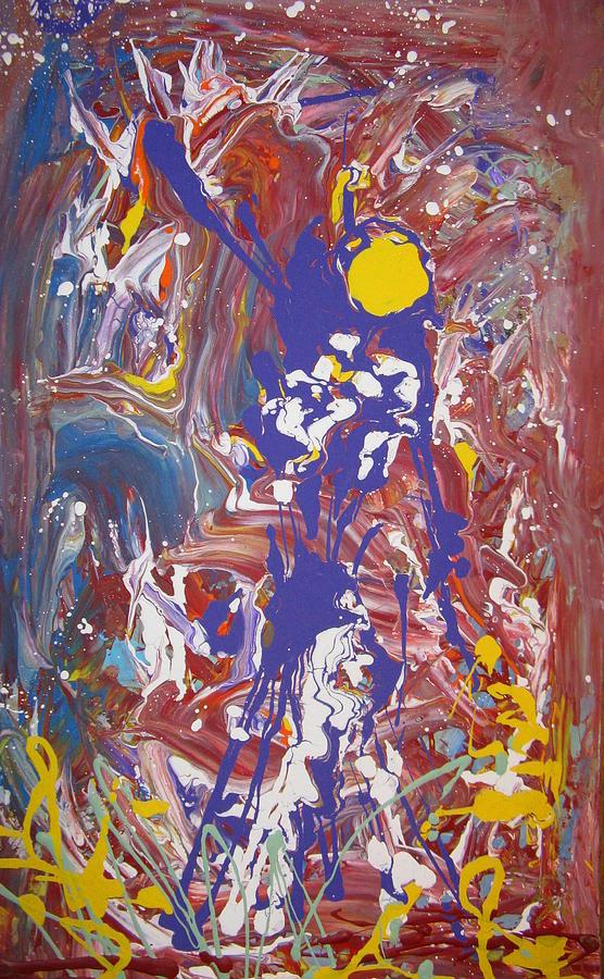 Figure Painting - Reach by Darryl  Kravitz
