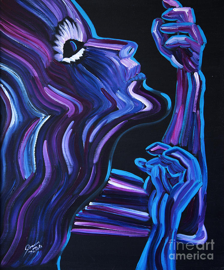 Figure Painting - Reach by JoAnn DePolo