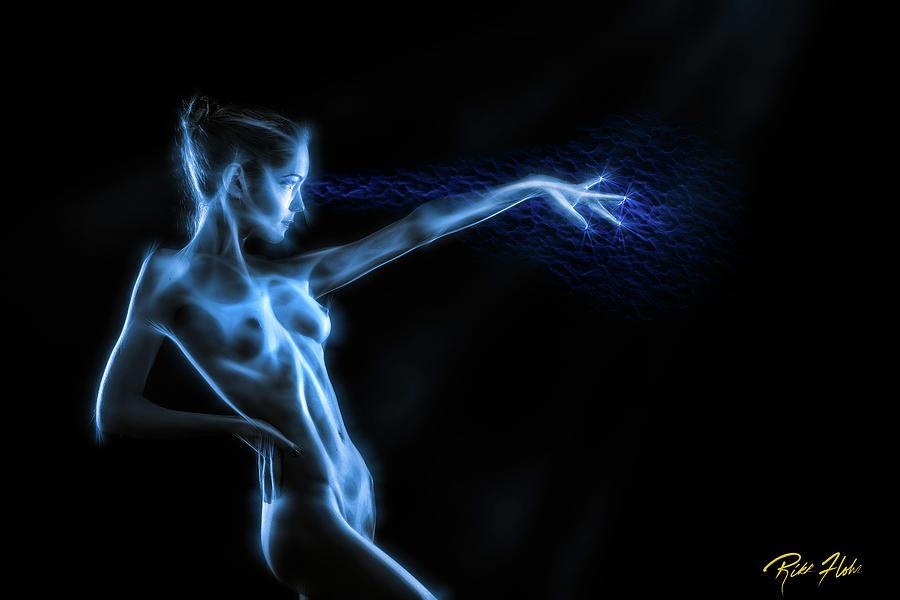 Models Photograph - Reaching Figure Darkness by Rikk Flohr