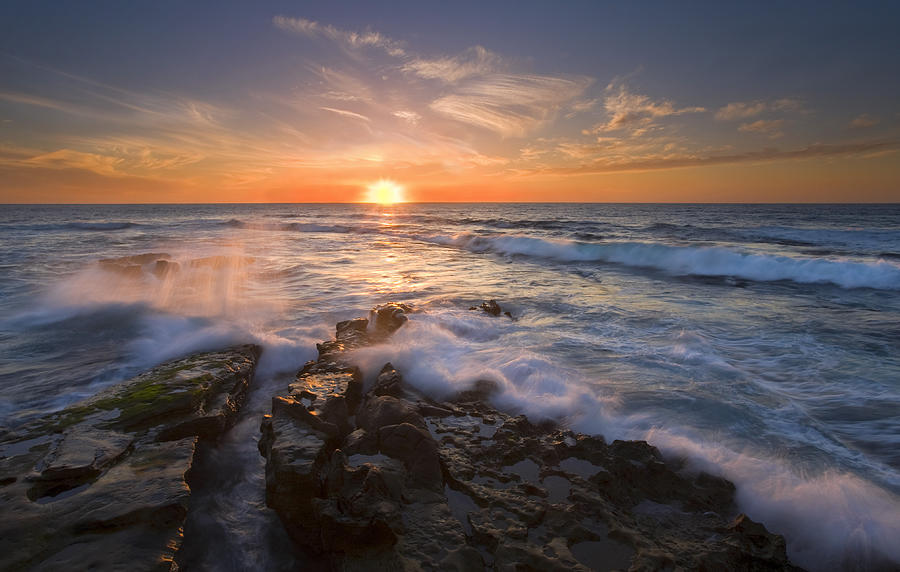 Sunset Photograph - Reaching For The Sun by Mike  Dawson