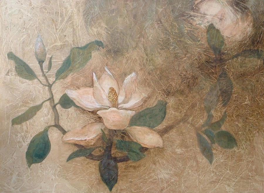 Magnolias Painting - Reaching For The Sun by Win Peterman