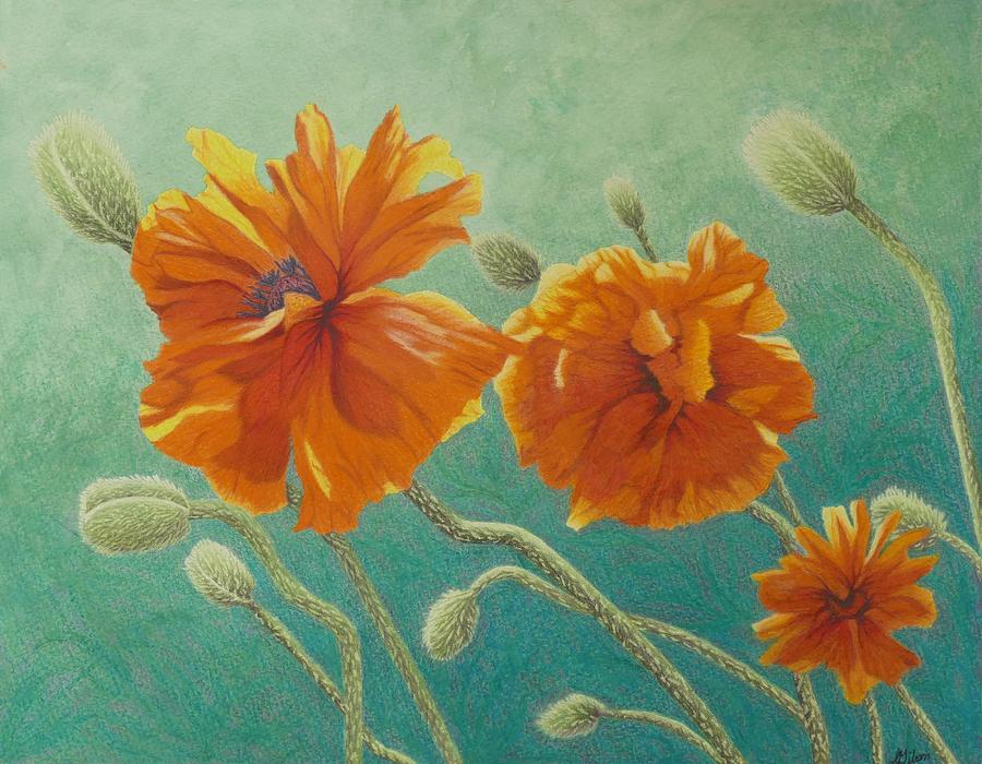 Poppy Painting - Reaching Out by Lisa Gibson