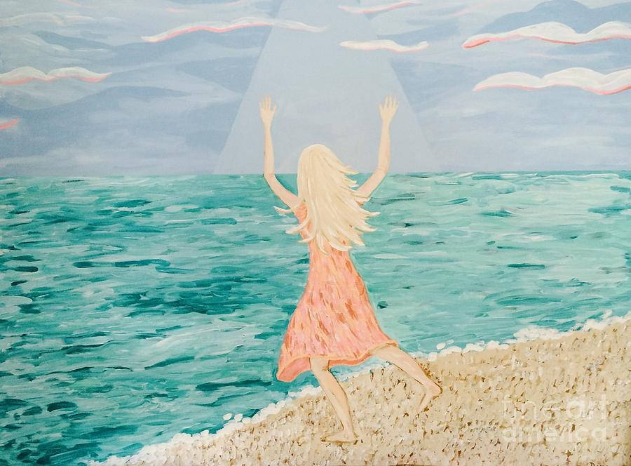 Ocean Painting - Reaching Up To Heaven by Dana Peters-Colley