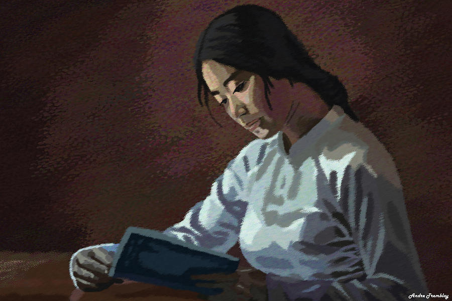 People Digital Art - Reader by Andre Tremblay