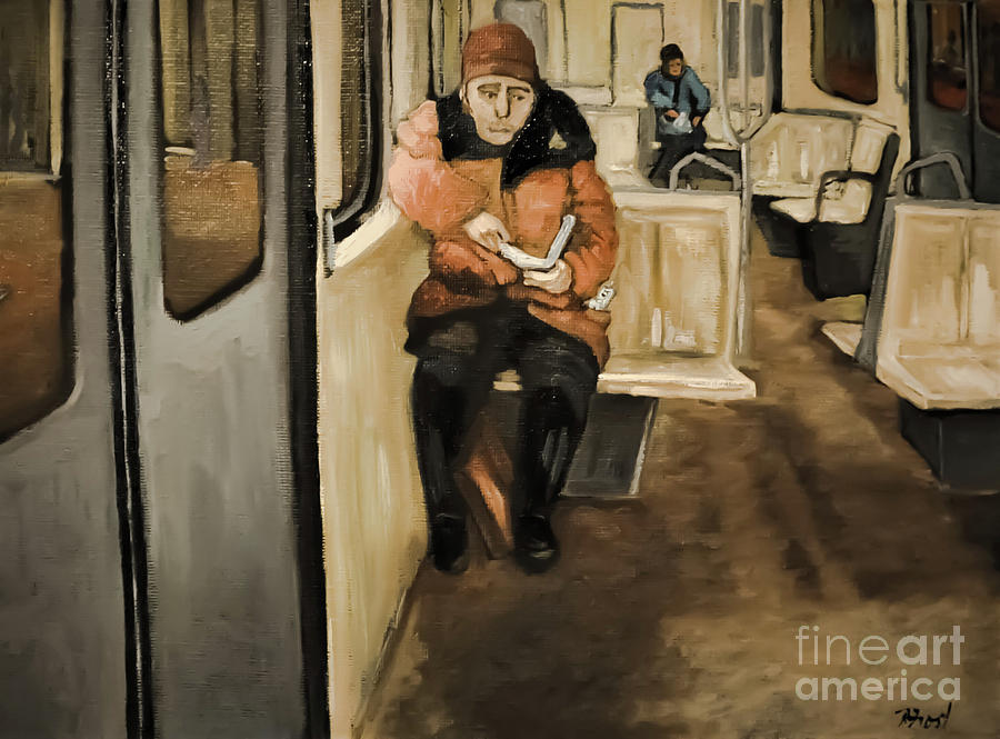 Reader on the Metro by Reb Frost