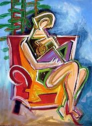 Plants Painting - Reading Chair by Janice Webb