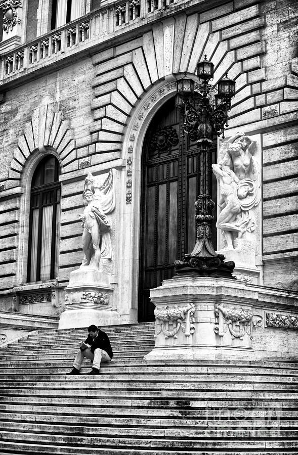 Man Photograph - Reading by John Rizzuto