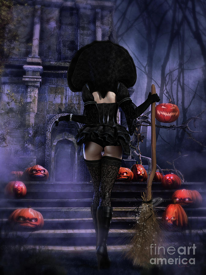 Ready Boys Halloween Witch Digital Art