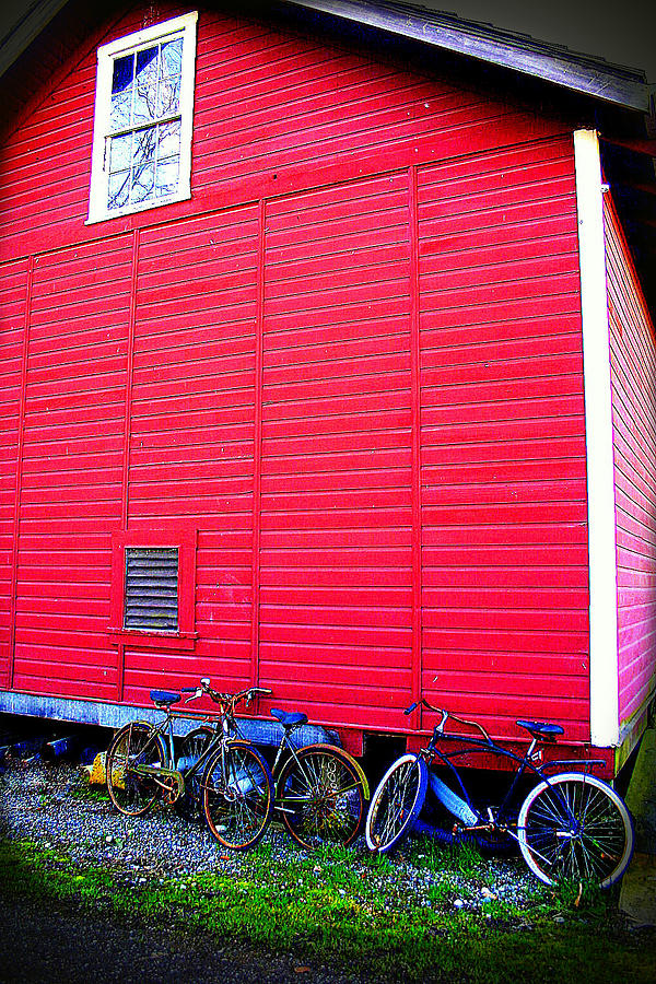 Old Bikes Photograph - Ready For A Bike Ride by Karla DeCamp