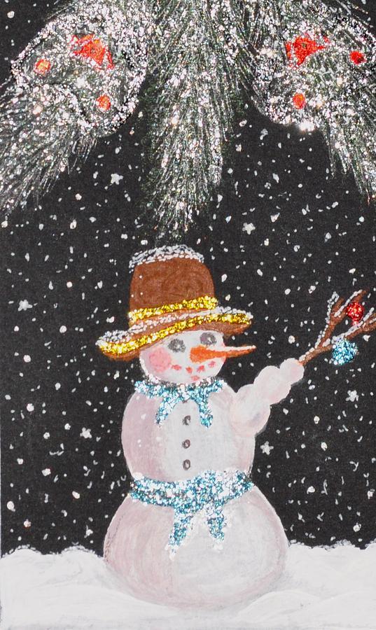 Snowman Mixed Media - Ready For Fun by Georgeta  Blanaru