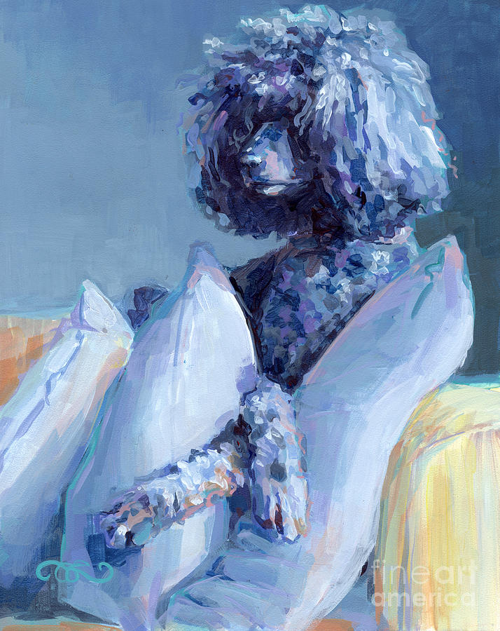 Black Dog Painting - Ready For Her Closeup by Kimberly Santini