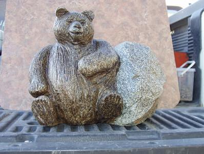 Fat Bear Sculpture - Ready For The Big Nap by William Luke
