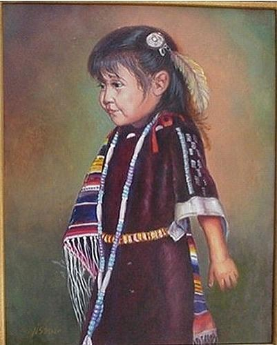 Children Painting - Ready For The Dance by Naomi Dixon