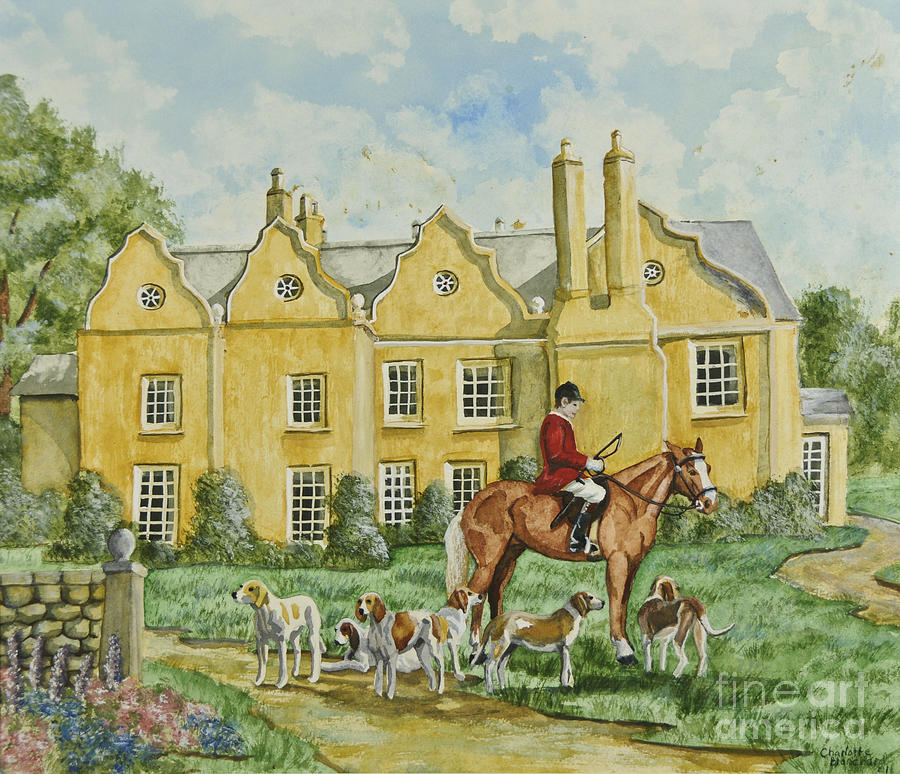 English Countryside Painting - Ready For The Hunt by Charlotte Blanchard