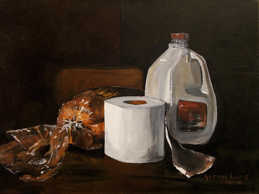 Still Life Painting - Ready For The Snow by George Lucas