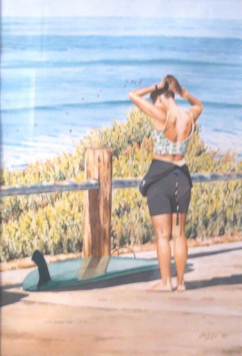 Surf Board Painting - Ready by Jesse miller