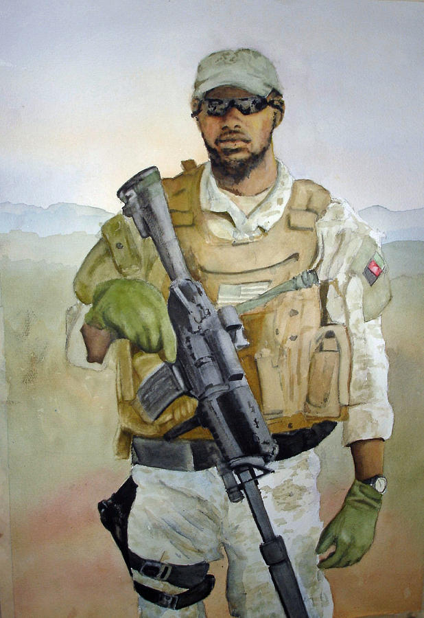 Soldier Painting - Ready by Kerra Lindsey