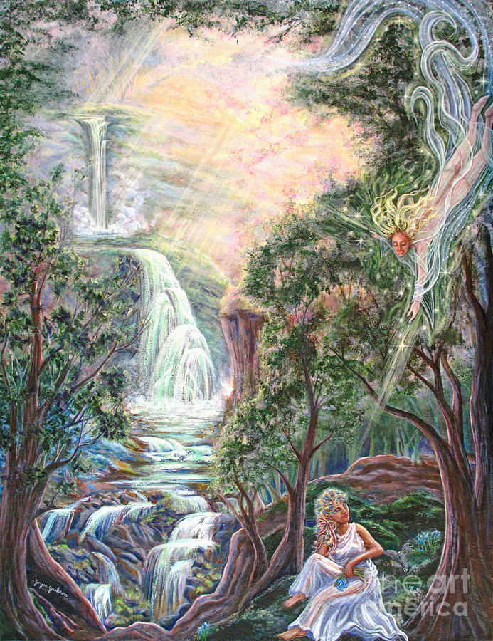Spiritual Painting - Ready To Fly by Joyce Jackson