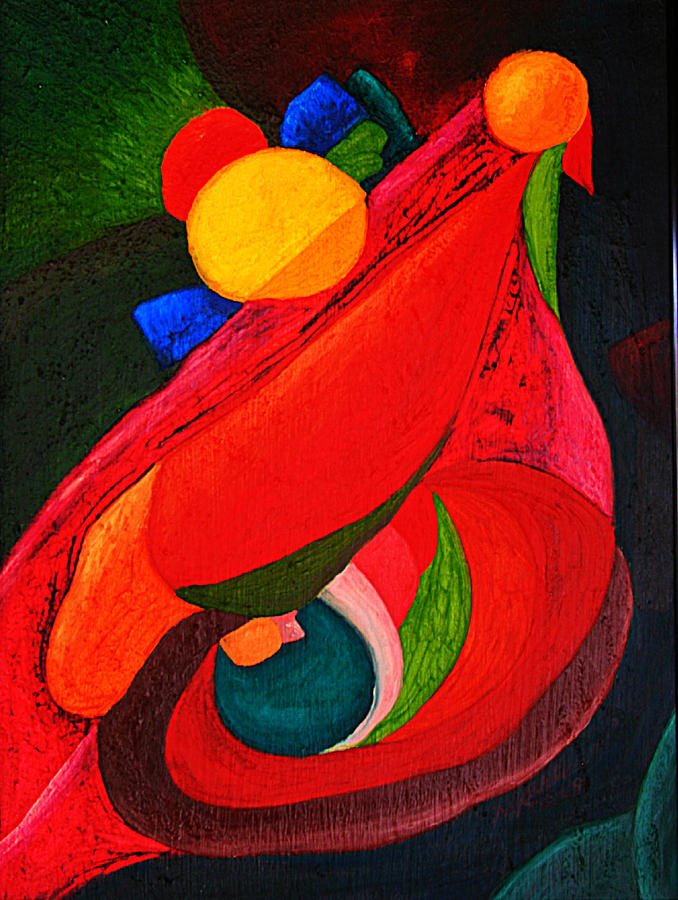 Abstract Painting - Ready To Fly by Michael C Crane