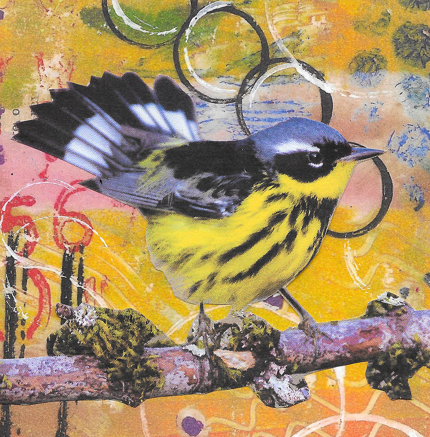 Bird Painting - Ready To Fly by Rozsi Adean Moser