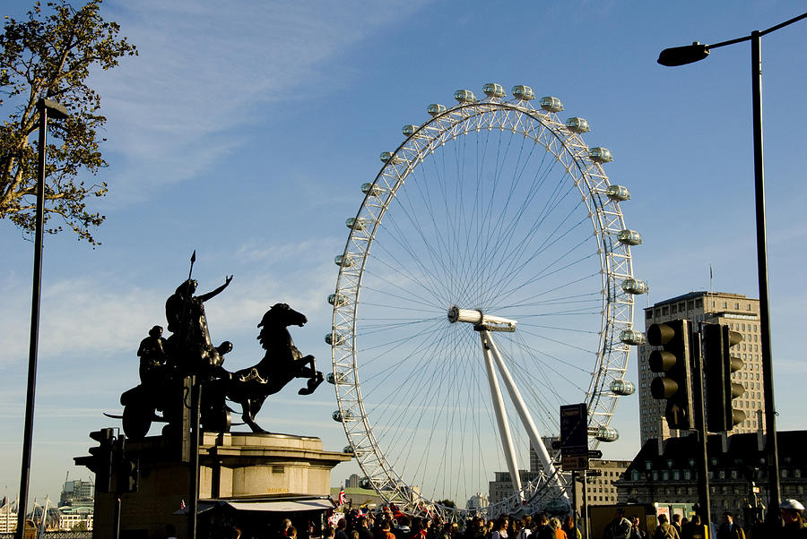 London Eye Photograph - Ready To Ride by Charles  Ridgway