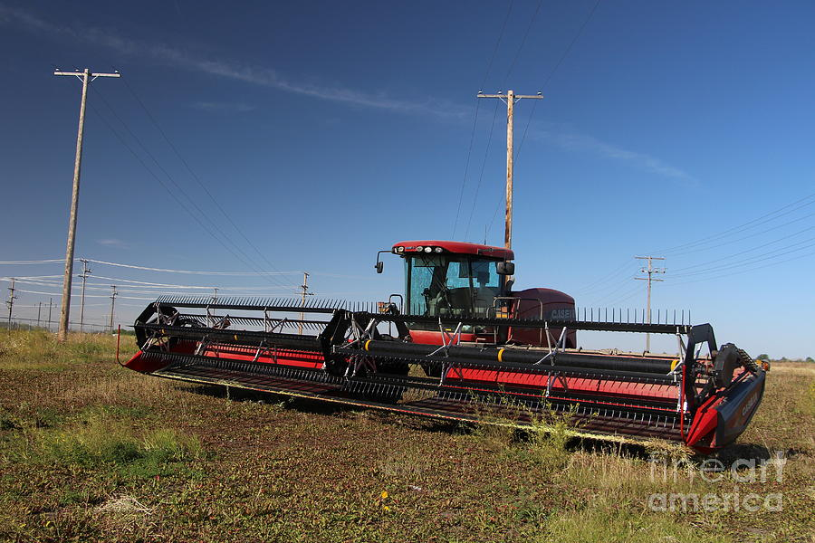 Swather Photograph - Ready To Roll by Devin Wilger