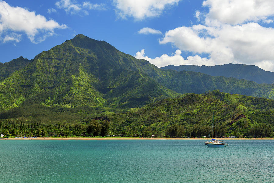 Sailboat Photograph - Ready To Sail In Hanalei Bay by James Eddy