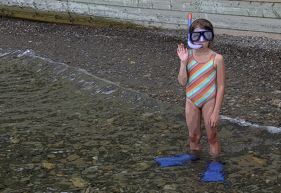 Snorkel Photograph - Ready To Snorkel by Frank Howie