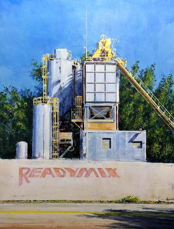 Readymix Cement Plant Miami by Ronald Shelley