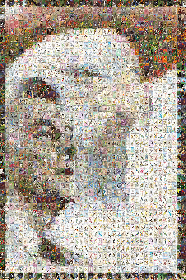 Mosaic Digital Art - Reagan by Gilberto Viciedo