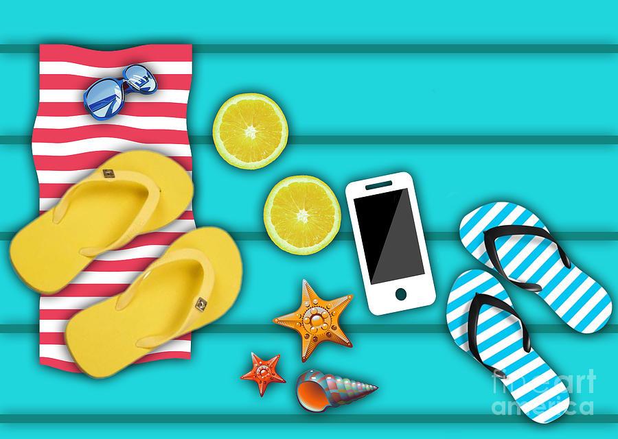 Summer Digital Art - Real Summer Time  by Mark Ashkenazi