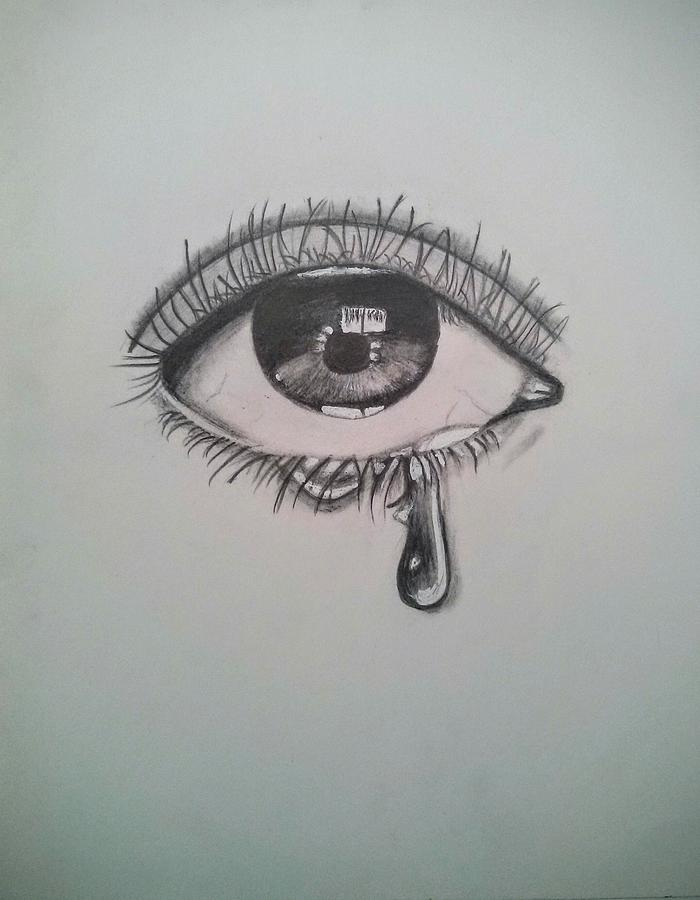 Graphite Drawing Realistic Eye By Gulrukh Khan