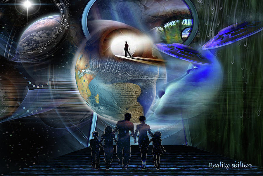 Multi-dimensional Digital Art - Reality Shifters by Nadine May
