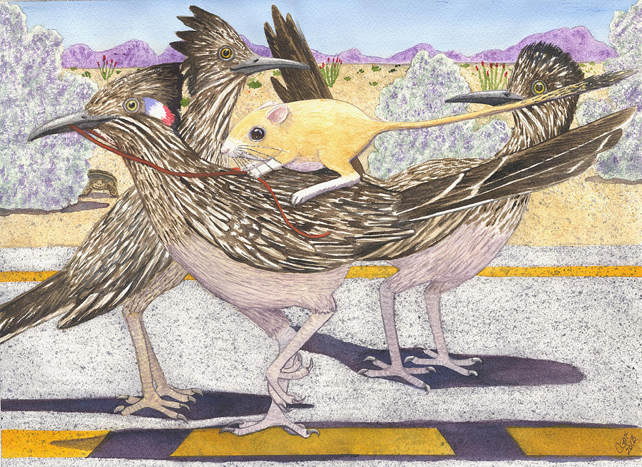 Roadrunner Painting - Really? by Catherine G McElroy