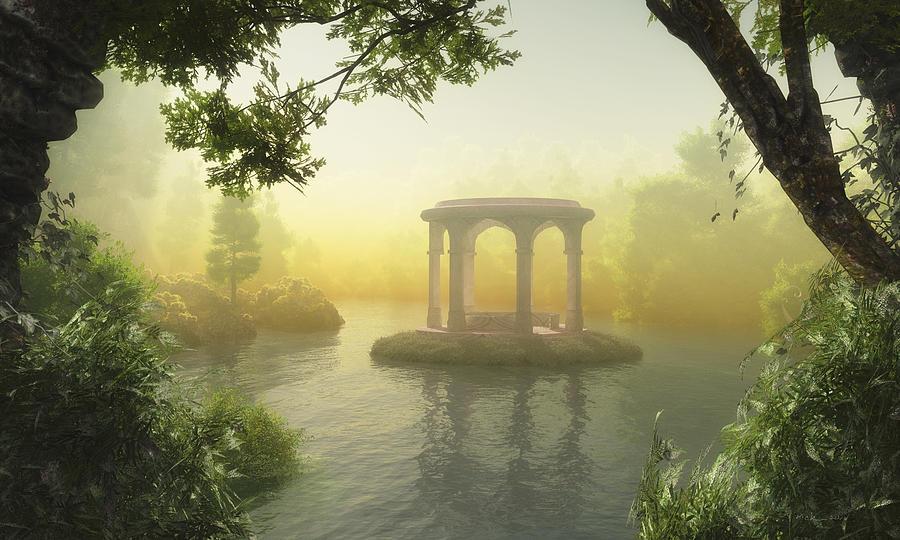 Fantasy And Surreal Digital Art Digital Art - Realm Of Light by Melissa Krauss