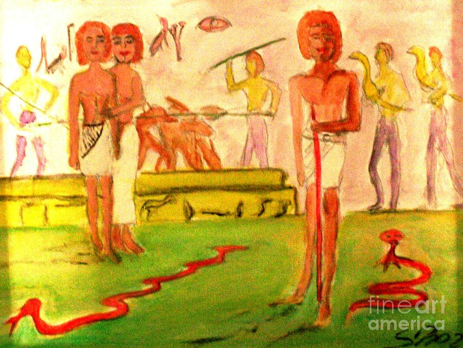 Egypt Painting - Reanimation Of Ancient Egypt by Stanley Morganstein