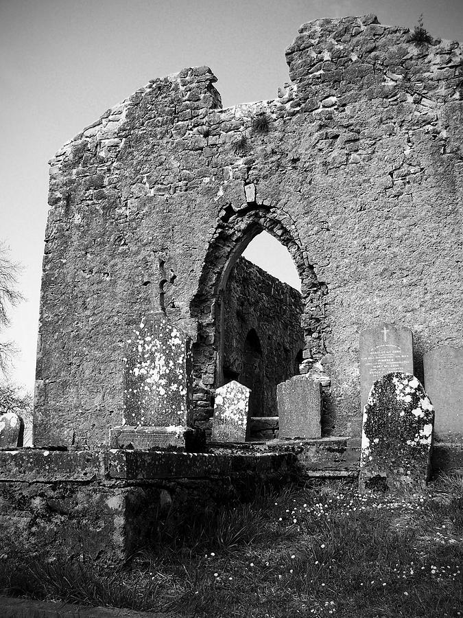 Ireland Photograph - Rear Entrance Fuerty Church Roscommon Ireland by Teresa Mucha