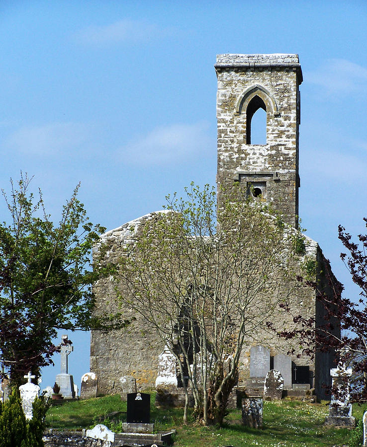 Fuerty Photograph - Rear View Fuerty Church And Cemetery Roscommon Ireland by Teresa Mucha