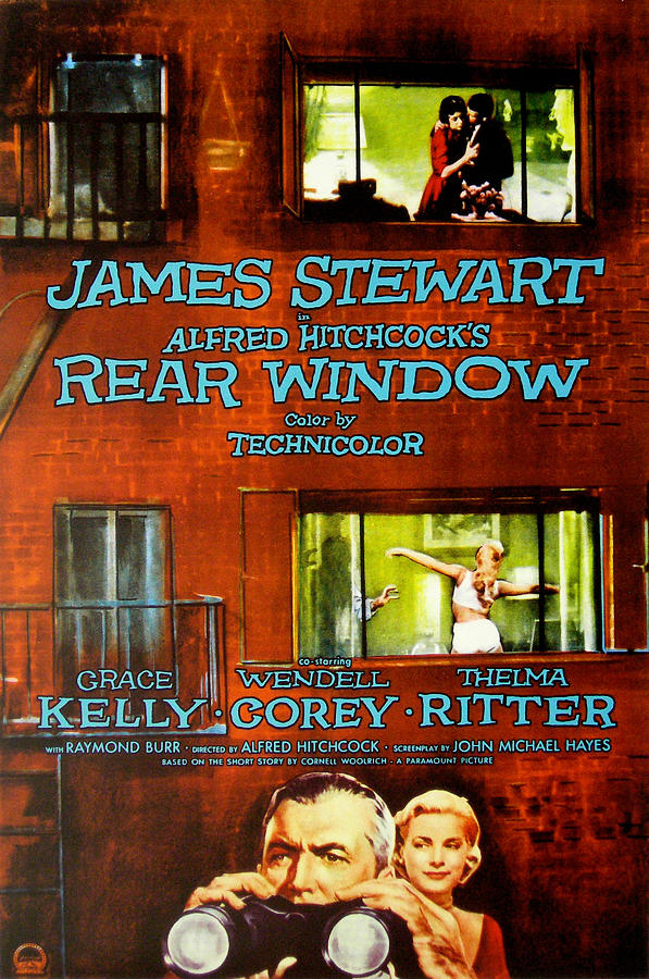 Films By Alfred Hitchcock Photograph - Rear Window, Grace Kelly, James by Everett