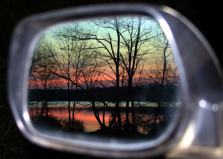 Rearview Mirror Photograph - Rearview Mirror by Mitch Cat