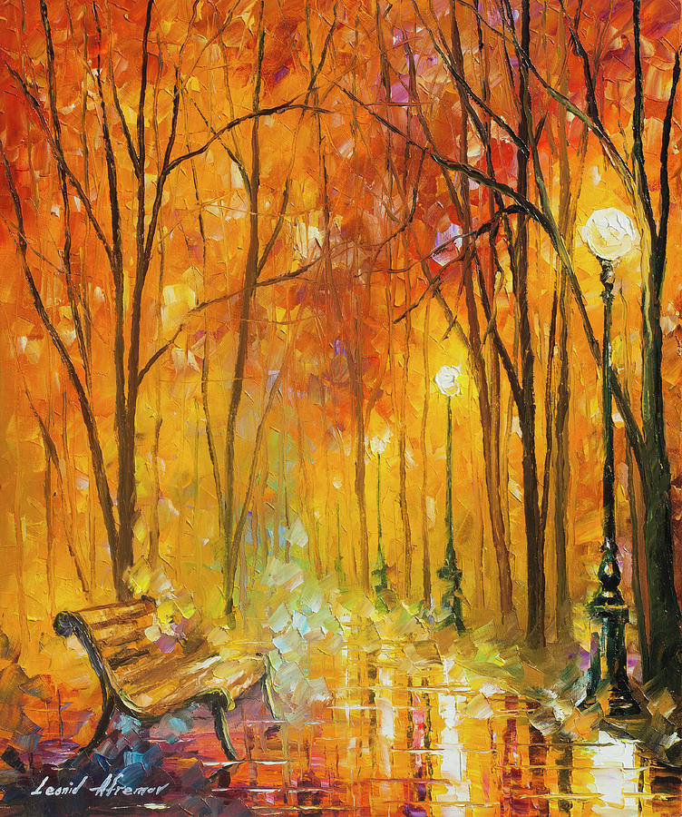 Painting Painting -  Reasons Of Autumn  by Leonid Afremov