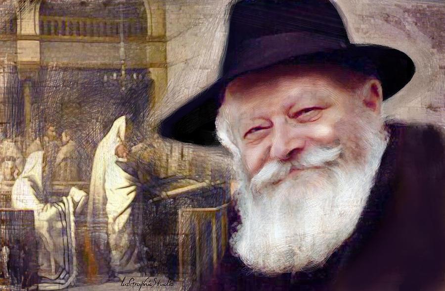 Rebbe et  Sinagogue by Luz Graphic Studio