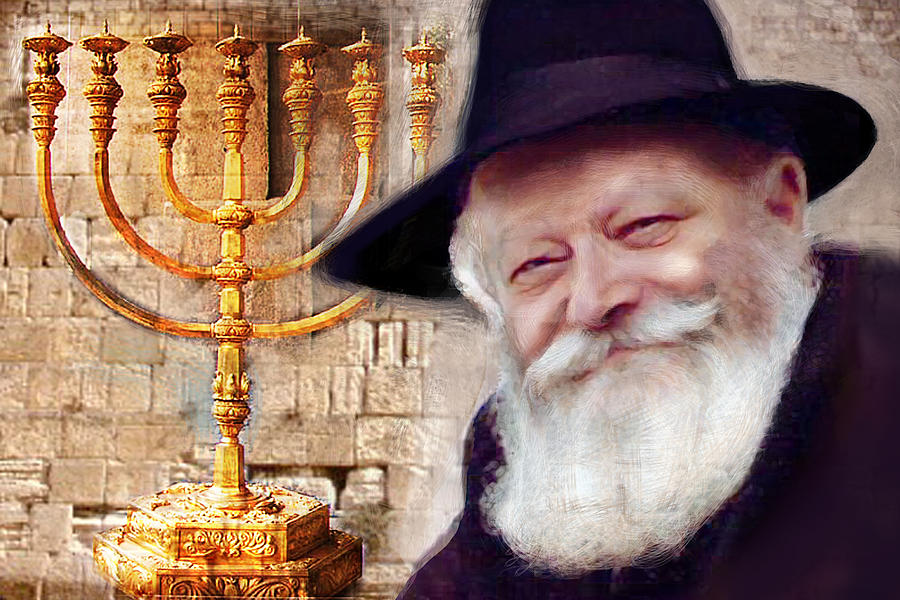 Rebbe Menorah 7 candles by Luz Graphic Studio