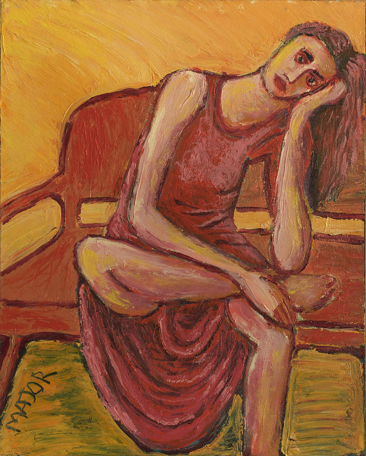 Seated Painting - Rebecca by Clarence Major
